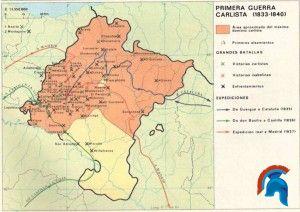 Primera Guerra Carlista Mapa.Primera Guerra Carlista 1833 1840