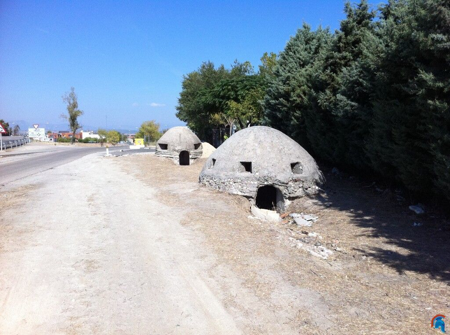 Bunkers de Brunete carretera Quijorna
