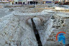 Recinto arqueológico de las murallas medievales. Puerta de Gibraltar.