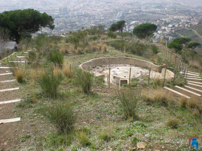 Batería antiaérea en la montaña de Sant Pere Màrtir